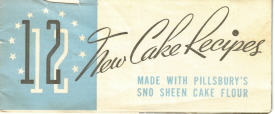 Pillsbury Sno Sheen Cake Flour Recipe Booklet