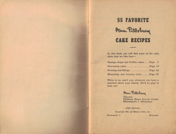 Inside Cover of Cookbook - Click To View Larger