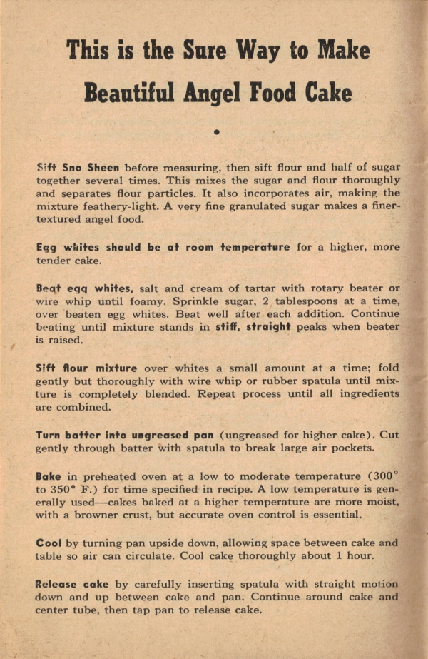 This is the sure way to make beautiful angel food cake vintage 55 page 10 this is the sure way to make beautiful angel food cake click forumfinder Images