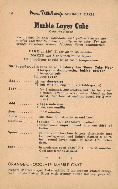 Marble Layer Cake Vintage 55 Favorite Cake Recipes