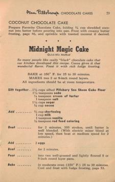 Midnight Magic Cake Vintage 55 Favorite Cake Recipes
