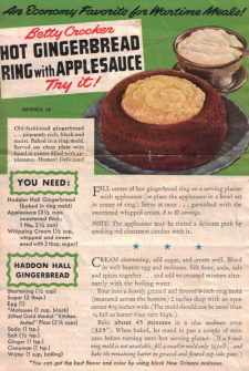 Betty Crocker Wartime Meals - Series No. 14
