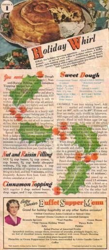 Series 9 Betty Crocker Recipe Sheet