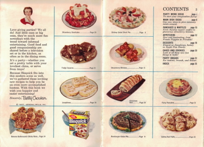 Pages 2 & 3 - Betty Crocker's Bisquick Party Book - Click To View Larger