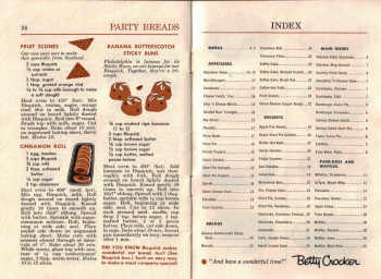 Pages 24 & 25 - Party Breads & Index - Click To View Larger