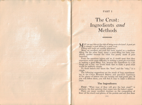 The Crust: Ingredients & Methods - Crisco: Good Pies & How To Make Them