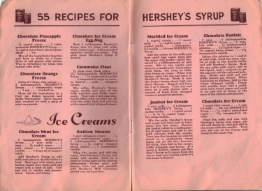 55 Recipes For Hershey's Syrup - Ice Creams - Click To View Larger