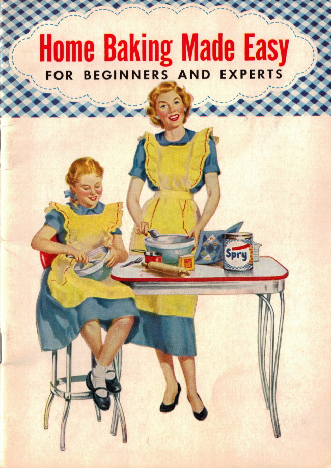 Cookbook Back Cover : Meaning of baking terms vintage booklet home