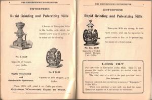 Antique Coffee Grinders - Illustrations in The Enterprising Housekeeper Book - Click To View Larger