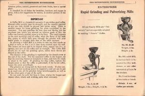 Coffee Grinder Instructions & Vintage Illustrations - Click To View Larger