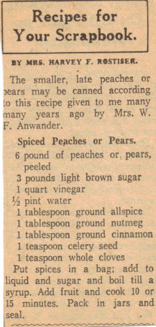 Spiced Peaches or Pears Canning Recipe
