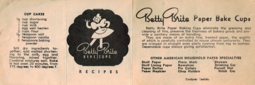 Vintage Betty Brite Muffins & Cupcakes Recipe Folder