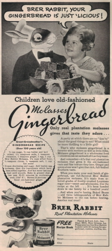 Vintage Brer Rabbit Molasses Gingerbread Recipe