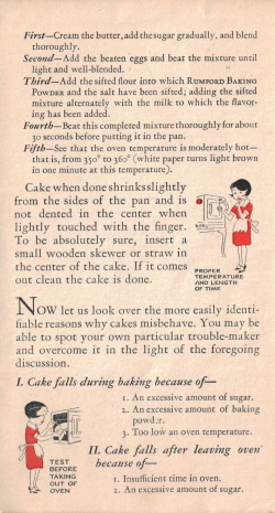 Page Three - Cake: Good..Better...Best Vintage Pamphlet