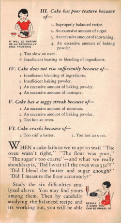 Page Four - Cake: Good..Better...Best Vintage Pamphlet