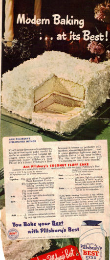 Coconut Fluff Cake Recipe Clipping - Click To View Larger