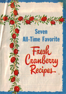Seven All-Time Favorite Fresh Cranberry Recipes - Pamphlet Cover