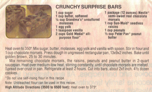 Crunchy Surprise Bars Recipe 171 Recipecurio Com