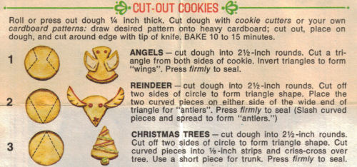 Cut Out Cookies Instructions