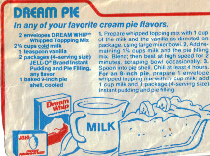 Dream Pie Recipe Clipping