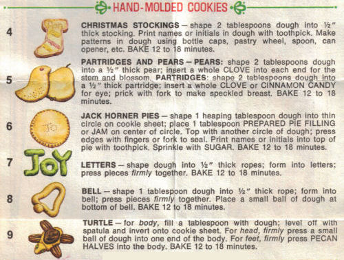 Hand Molded Cookies Instructions