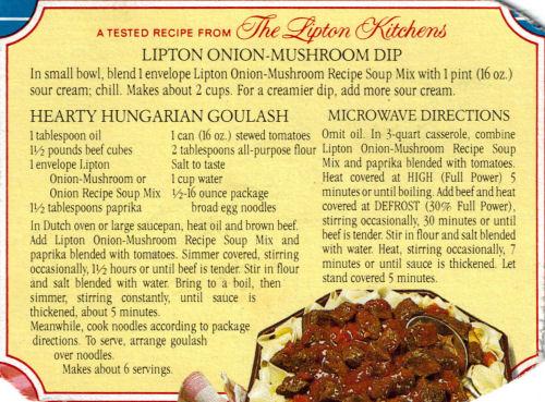 Goulasch recipe
