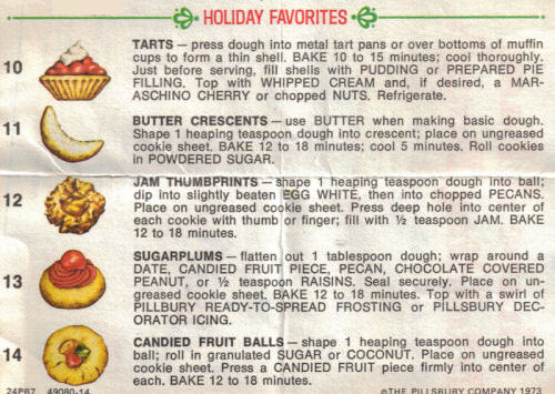 Holiday Favorites Instructions