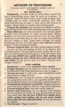 Hot Water Bath Method - Vintage Home Canning Guide - Click To View Larger