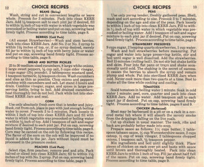 Canning Recipes - Vintage Home Canning Guide - Click To View Larger