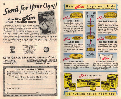 Vintage Home Canning Guide - Click To View Larger