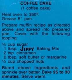 Jiffy Baking Mix Muffins Amp Coffee Cake Recipes