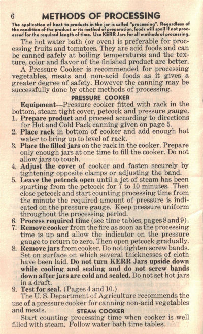 Pressure Cooker Method Vintage Home Canning Guide Recipecurio
