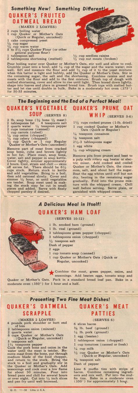 Recipe for quaker oatmeal cookies