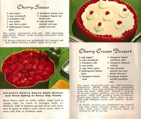 New Recipes For Red Cherries Vintage Recipe Folder