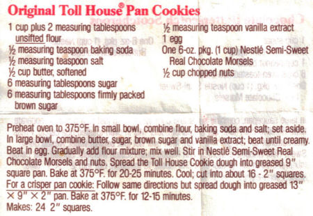 toll house cookie recipe