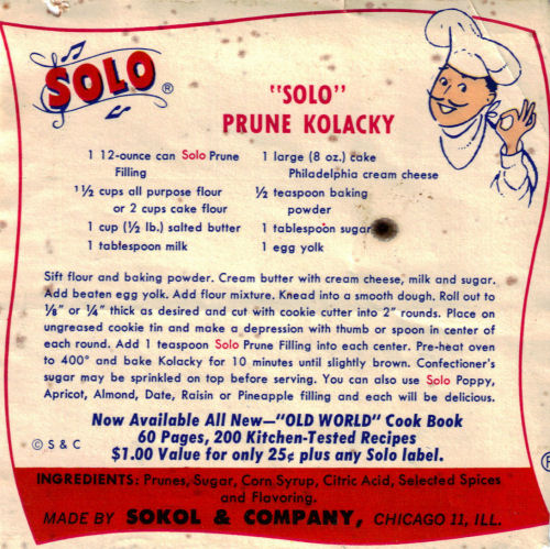 Solo prune kolacky recipe recipecurio solo prune kolacky recipe ccuart Gallery