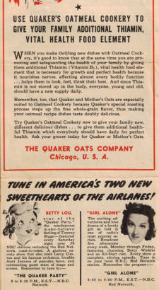 Vintage Quaker Oats Recipe Folder - Click To View Larger