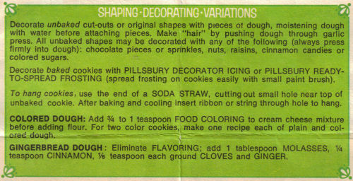 Shaping - Decorating - Variations