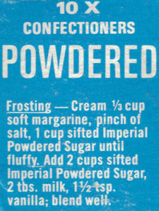 Imperial Powdered Sugar Frosting Recipe