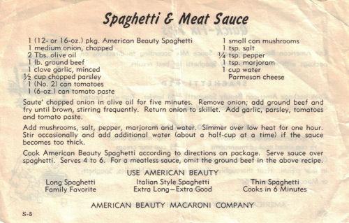 Spaghetti Sauce Recipe Spaghetti Amp Meat Sauce
