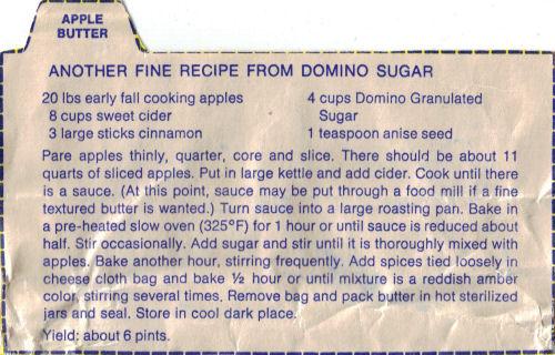 apple butter recipe     clipping   recipecurio com