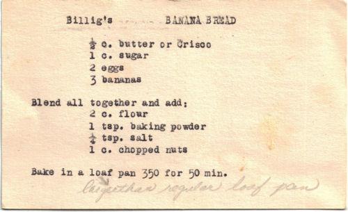 banana bread recipe card - photo #22
