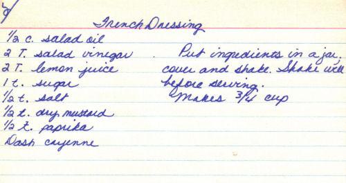 French dressing recipe easy