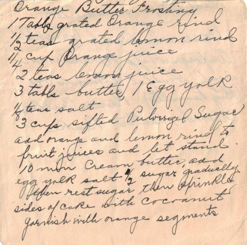 recipe orange butter