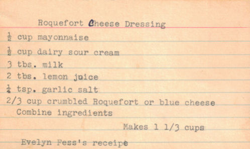 Roquefort Cheese Dressing Recipe