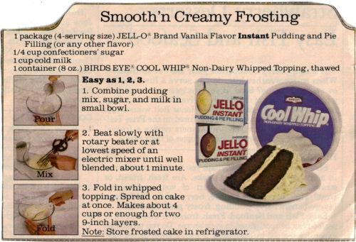 Cool Whip Smooth N Creamy Frosting Recipe Recipecurio Com