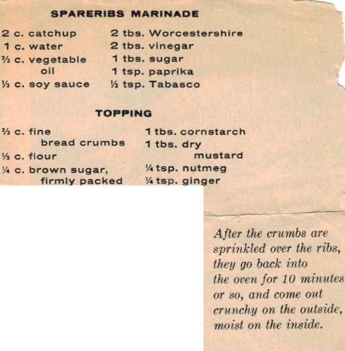 Marinade recipe pork ribs