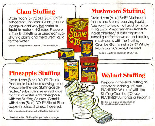 Stove Top Stuffing Recipe Sheet Cover