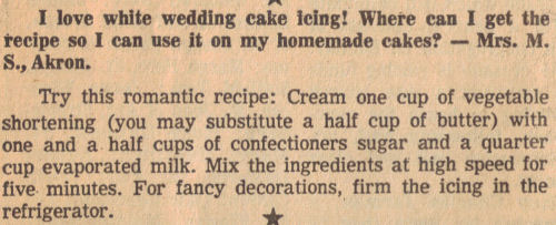 White Wedding Cake Icing Recipe