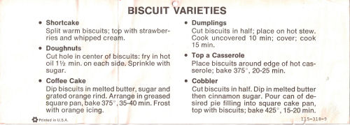 Pillsbury Biscuit Varieties Recipe Sheet | RecipeCurio.